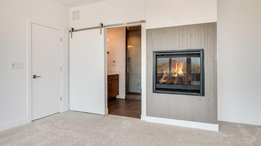 16-Master Fireplace and Barn Door